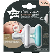 Suzeta Tommee Tippee Closer to Nature, 6-18 luni, Alb/Verde 2 buc