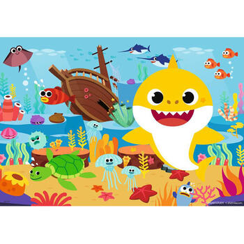 Ravensburger Puzzle Baby Shark, 2x12 Piese