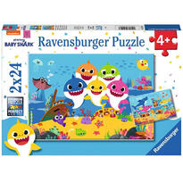 Ravensburger Puzzle Baby Shark, 2x24 Piese