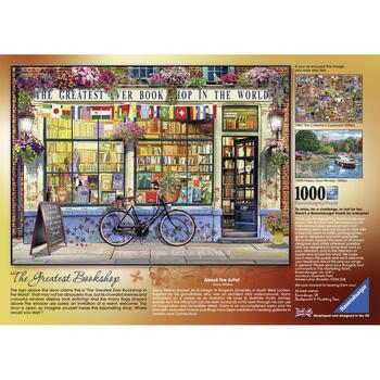 Ravensburger Puzzle Librarie Grozava, 1000 Piese