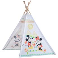 Cort de joaca Tepee John Mickey and Minnie 120x120x160 cm
