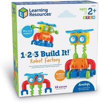 Learning Resources Hai sa construim - 1, 2, 3  Robotel colorat