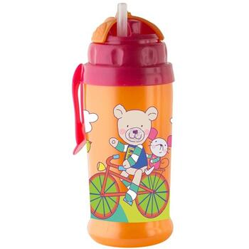 Rotho-Baby Design Pahar cu pai de silicon CoolFrends Raspberry 360ml.12L+ Rotho-babydesign
