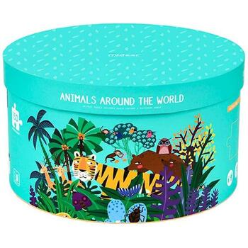 Puzzle rotund Animale, 150 piese Mideer MD3099