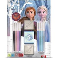 Set pictura 11 piese, 2 stampile, tus si 8 carioci Frozen 2 Multiprint MP26981