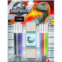 Set pictura 11 piese, 2 stampile, tus si 8 carioci Jurassic World Multiprint MP26975