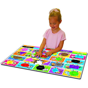 THE LEARNING JOURNEY Puzzle Mare De Podea - Culori Si Forme - Eng
