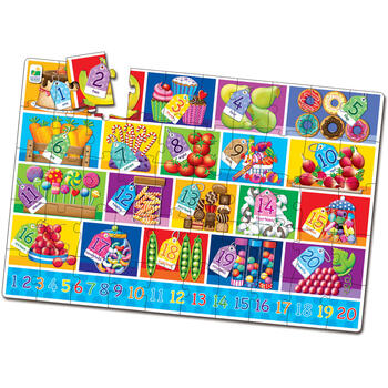 THE LEARNING JOURNEY Puzzle Mare De Podea - Numere - Eng