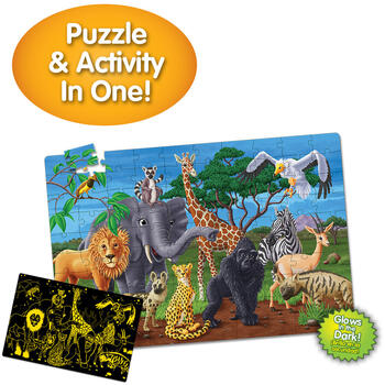 THE LEARNING JOURNEY Puzzle Straluceste In Intuneric - Animale Salbatice