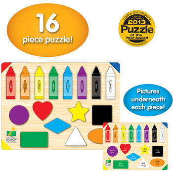 THE LEARNING JOURNEY Puzzle - Sa Invatam Culorile Si Formele