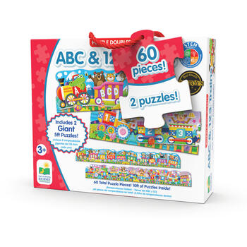 THE LEARNING JOURNEY Set 2 Puzzle-uri Trenul Urias Cu Numere Si Litere - Eng