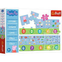 Trefl Puzzle Educational 20 Piese Numere Peppa Pig