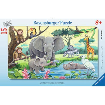 Ravensburger Puzzle Animale Din Africa, 15 Piese